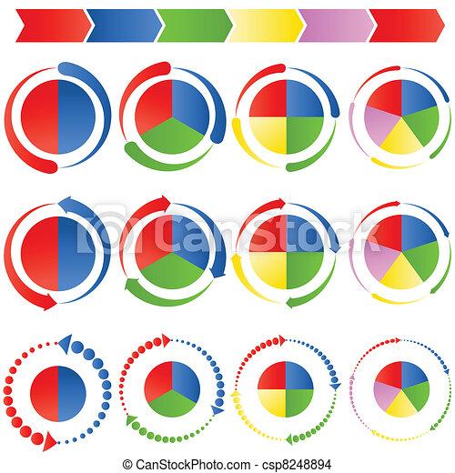 Process Arrow Pie Charts - csp8248894