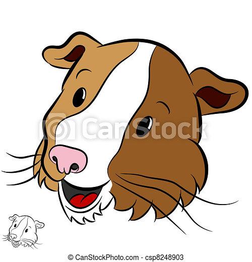 Pig - An image of a cartoon guinea pig. csp8248903 - Search Clip Art ...