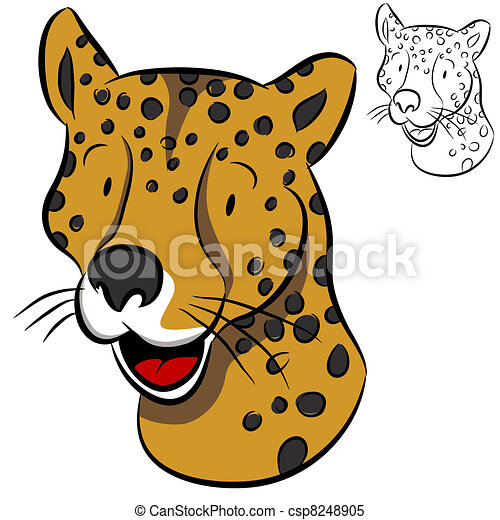 Cheetah Face - csp8248905