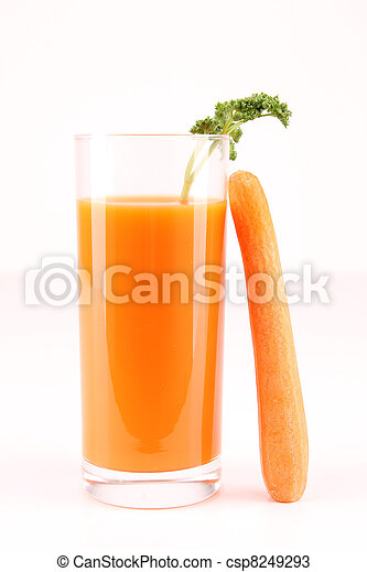 isolated carrot juice - csp8249293