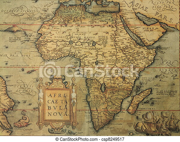antique map of Africa  - csp8249517