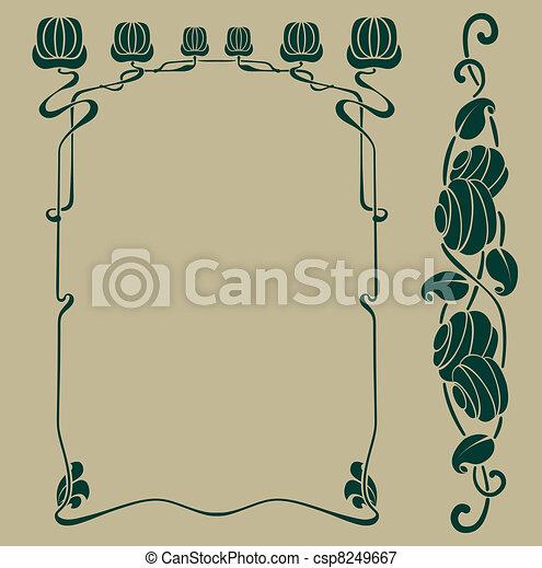 art nouveau frame - csp8249667