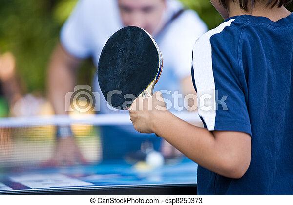 teenager plays Ping-Pong