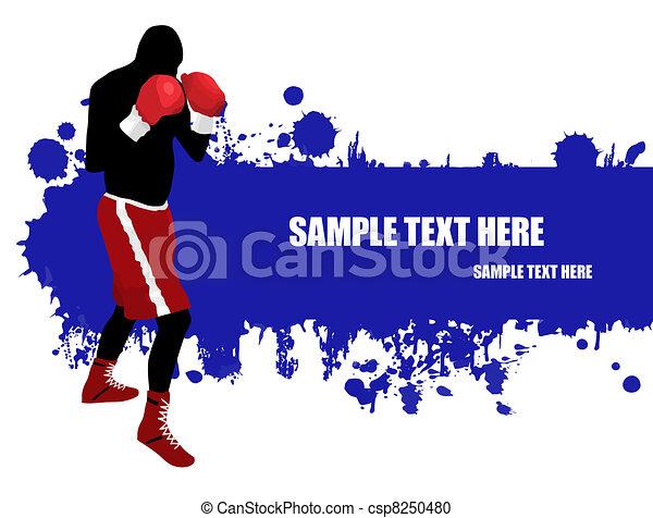 Boxing poster - csp8250480