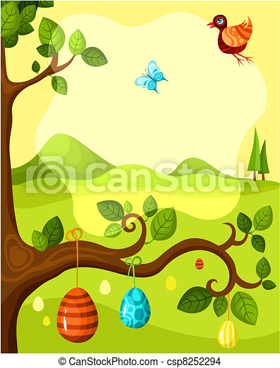 easter card - csp8252294