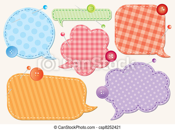 set of speech bubbles - csp8252421