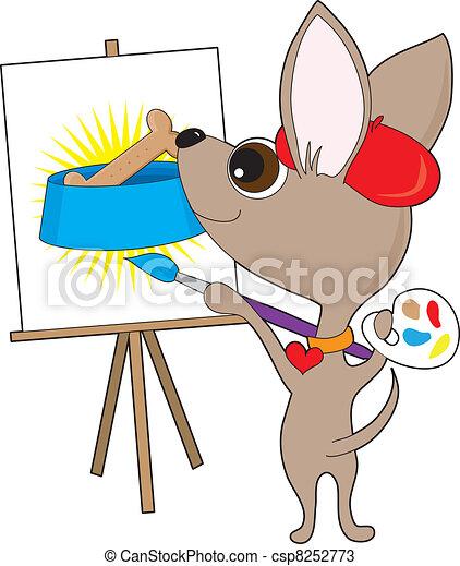 Chihuahua Artist - csp8252773