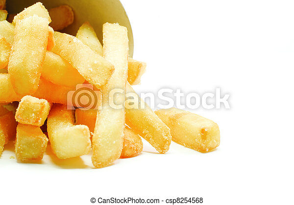 Big Thick Cut French Fries - csp8254568
