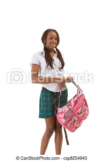 College student African American woman - csp8254943