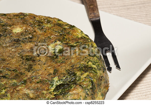 Spinach Tortilla - csp8255223