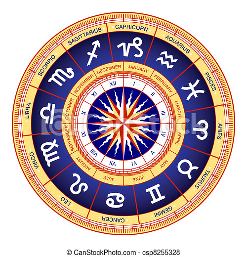 Astrological wheel - csp8255328