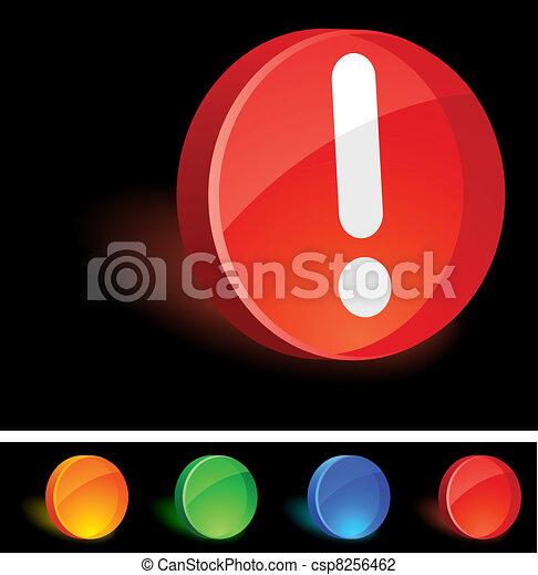 Attention Icon. - csp8256462