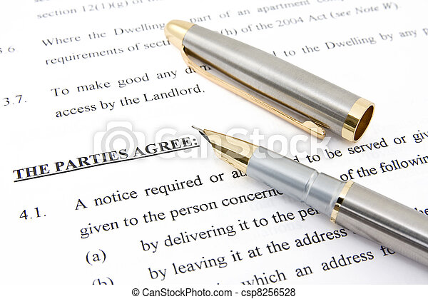 Lease agreement and pen - csp8256528