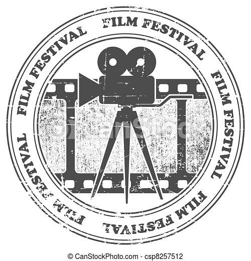 Film festival stamp - csp8257512