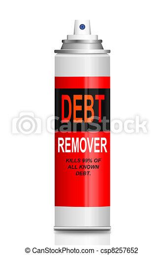 Debt relief concept. - csp8257652