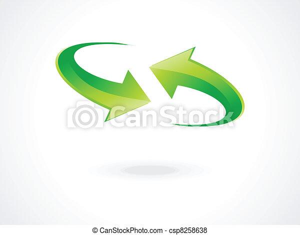 abstract green refresh icon vector  - csp8258638