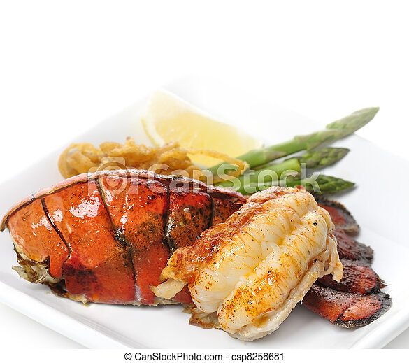 Grilled Lobster Tail - csp8258681