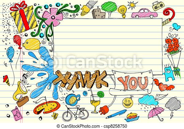 Thank You Doodle - csp8258750