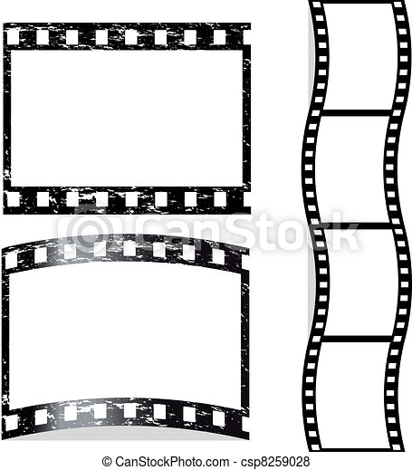 Vector scratched film - csp8259028