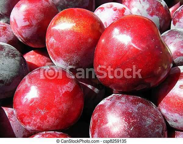 Red Plums - csp8259135