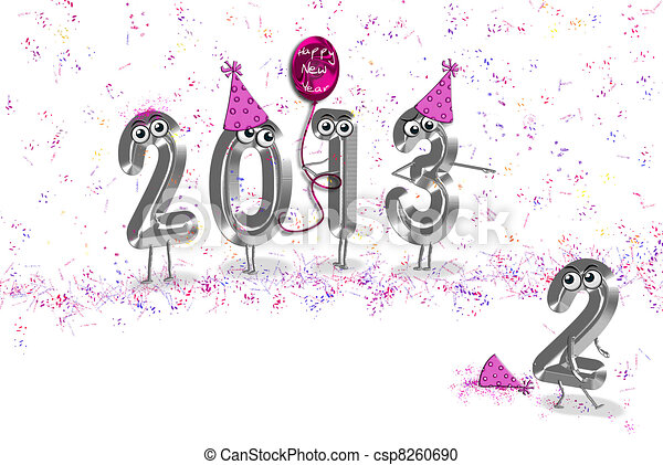 New Year's Eve humor - csp8260690