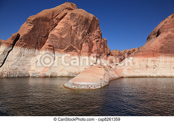 The lake Powell in flood of the river Colorado  - csp8261359