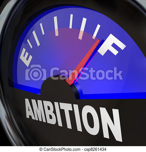 Fuel Gauge Ambition Measuring Enthusiasm - csp8261434