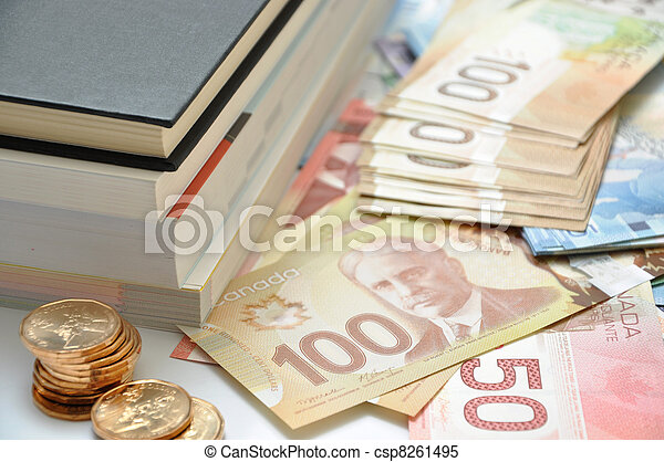 High education fee costs money - csp8261495