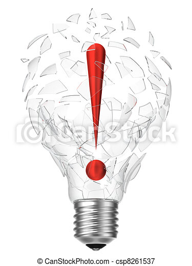 lightbulb idea exclamation point - csp8261537
