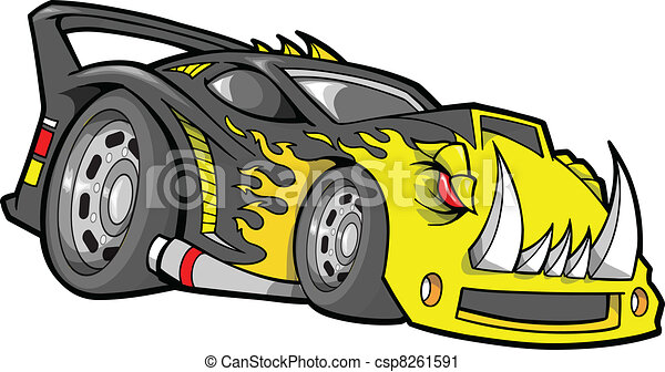 Hot-Rod Race-Car Vector  - csp8261591