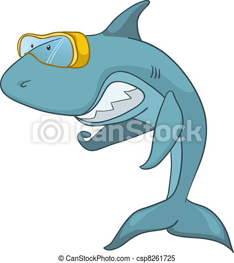 Cartoon Character Shark - csp8261725