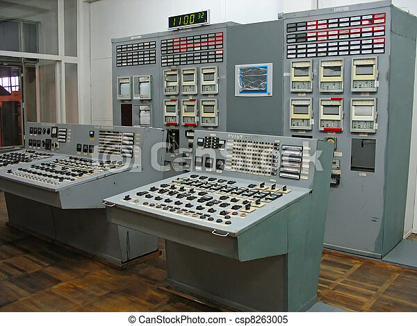 Control panel at electric power plant - csp8263005