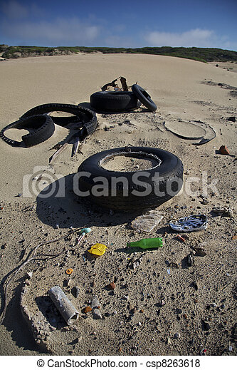 Litter and waste pollution  - csp8263618