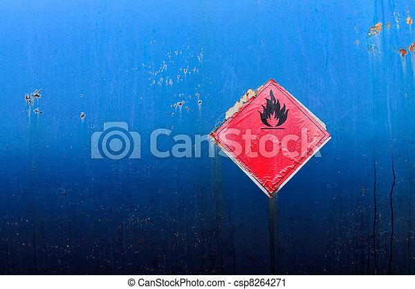 Grunge flammable symbol - csp8264271