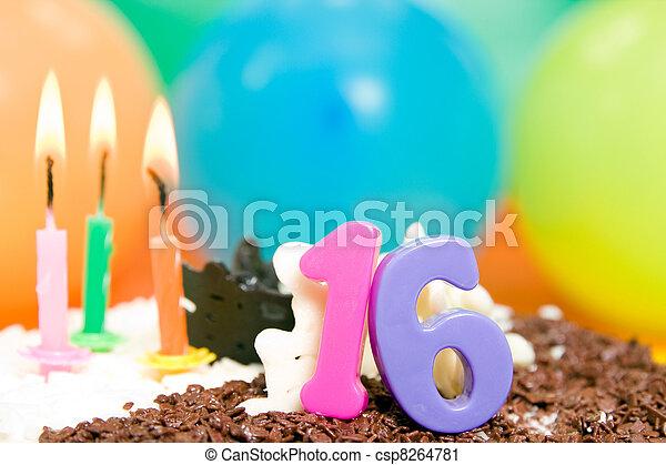 Sweet Sixteen Birthday - csp8264781