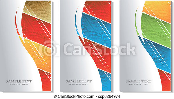 Vector cards with scratch design - csp8264974