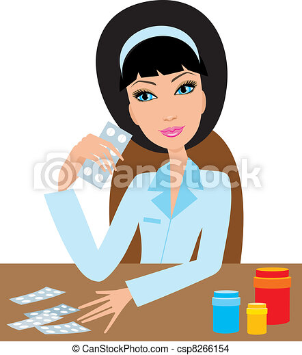 EPS Vector of Medical doctor woman csp8266154 - Search Clip Art ...