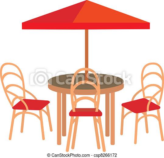 Summer street cafe - csp8266172