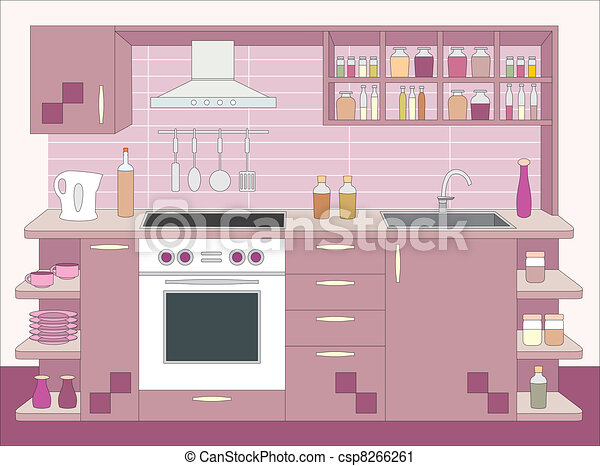 Kitchen furniture. Interior - csp8266261