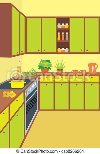 Dibujos De Muebles De Cocina. Good Muebles Cocina Diseo Retro De La ...