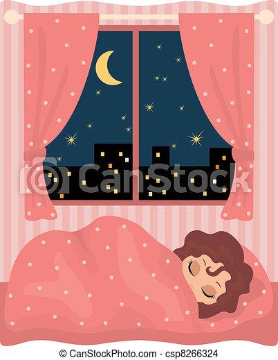 Pretty girl sleeps - csp8266324