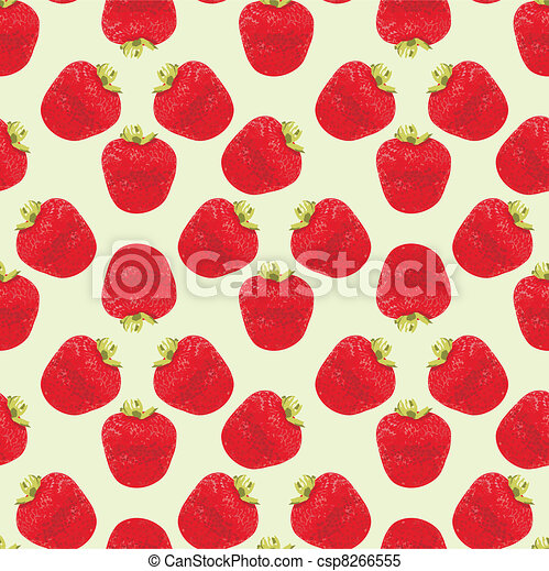 Seamless strawberries pattern - csp8266555