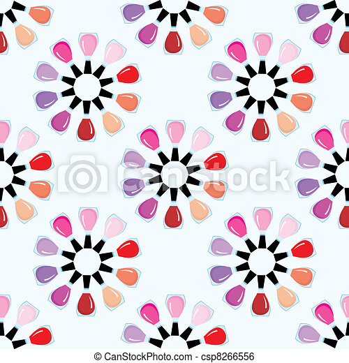 Seamless nail polish pattern. - csp8266556