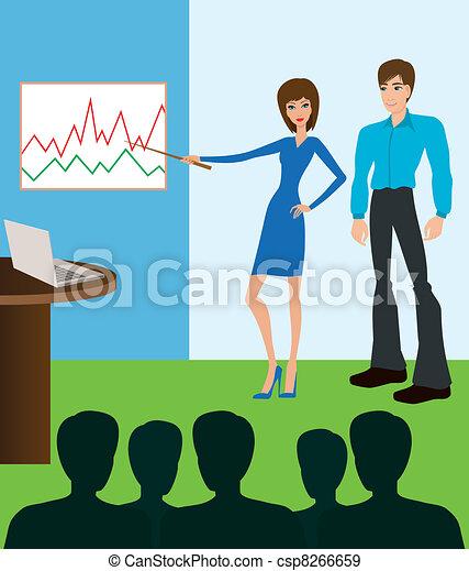 Business meeting. Presentation - csp8266659