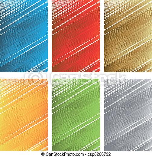 Vector set of scratch textures - csp8266732