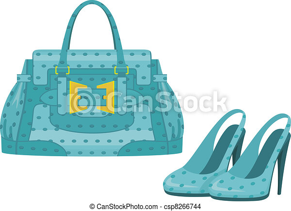 EPS Vector of Female bag and shoes csp8266744