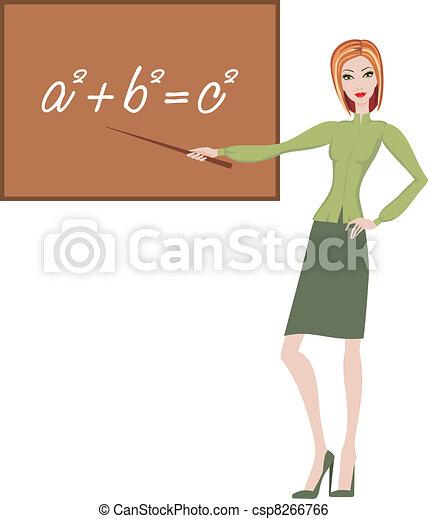 Teacher explains the theorem - csp8266766