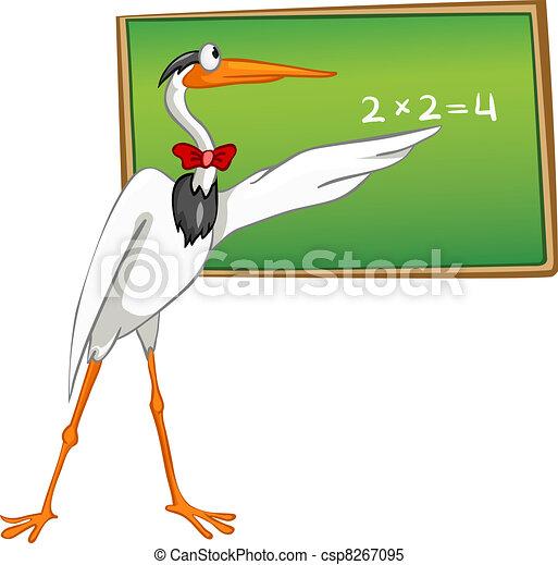 Cartoon Character Heron - csp8267095