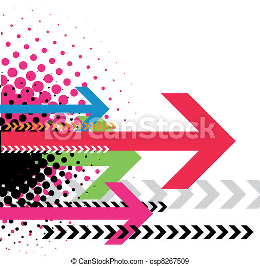 Contemporary Art abstract grunge background - csp8267509