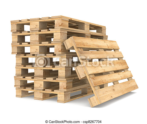 Pile of Pallets - csp8267704